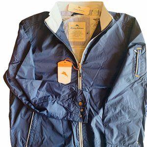 Tommy Bahama Small Sea Blue Jacket Windbreaker NWT